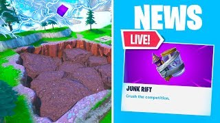 *NEW* FORTNITE JUNK RIFT EVENT AT SOCCER STADIUM RIGHT NOW! NEW UPDATE ITEM (Fortnite Battle Royale)