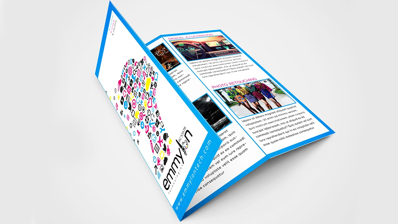 Tri Fold Brochure Design Layout Adobe Illustrator Speedart