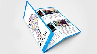 Tri Fold Brochure Design Layout   Adobe Illustrator (#SpeedArt)