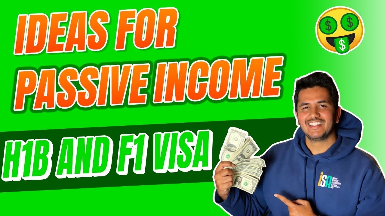 How To Make Passive Income On H1b Visa And F1 Visa Personal Finance 1 Youtube