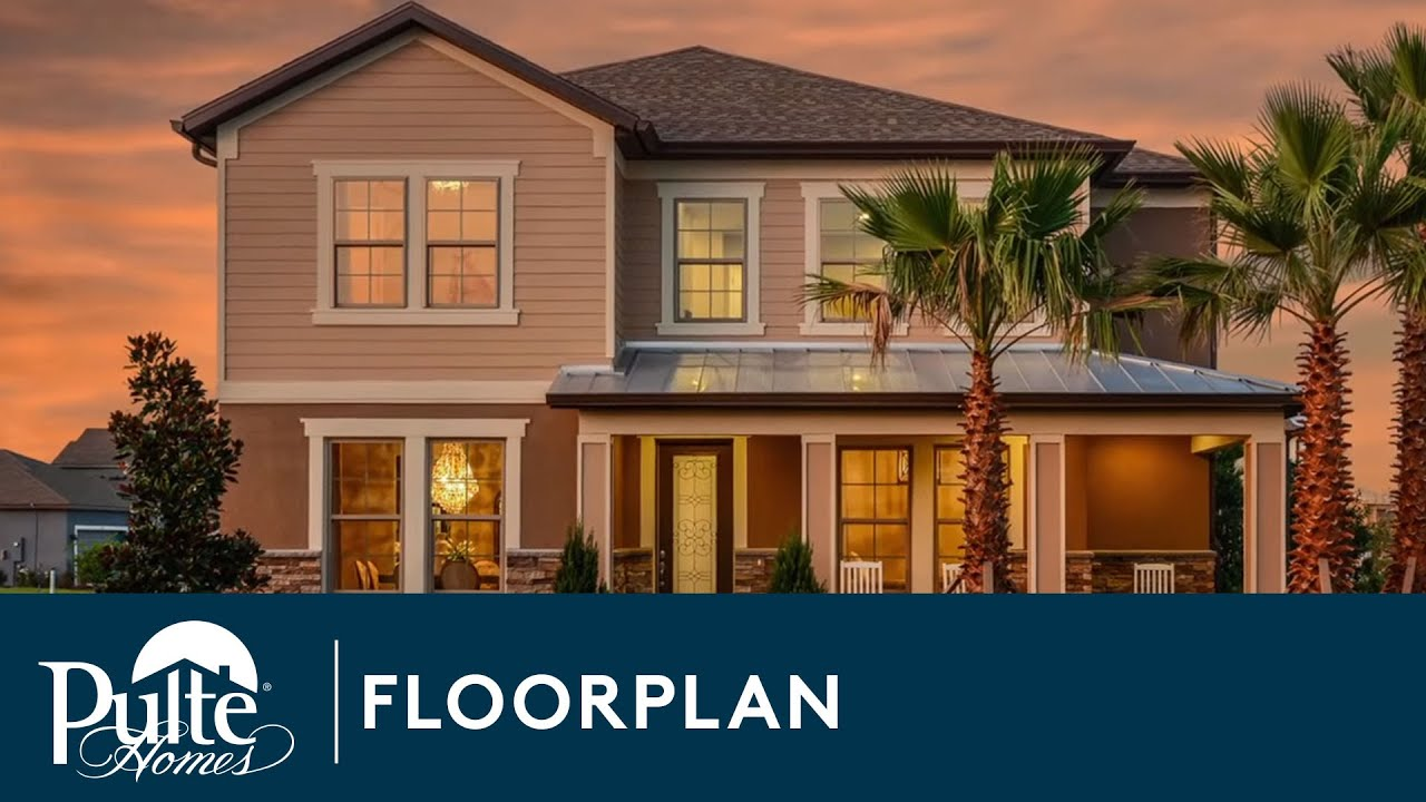 New Homes by Pulte Homes – Summerfield Floor Plan - YouTube