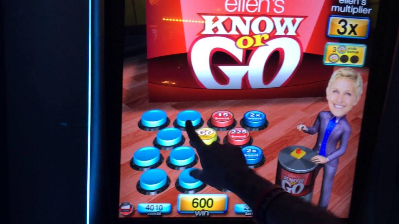 ellen slot machines on youtube