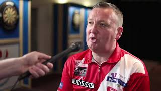 Glen Durrant has just thumped Tony Shea to reach the last 8 at WDT