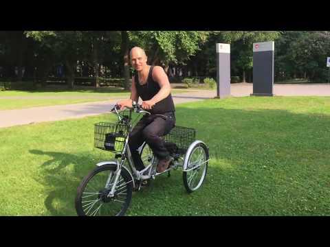 Трехколесный складной велосипед для взрослых Doonkan Trike 24. Электровелосипед Дункан Трайк Байк.