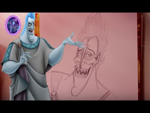 How To Draw Hades From Disneys Hercules At Dramaticparrot Youtube