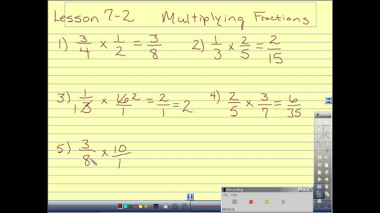 Multiplying Fractions With Cross Reducing