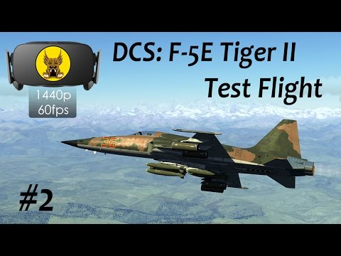 Test Flight - DCS: F-5 Tiger II #2 - Basic Handling, CG Position and Takeoff Calculation
