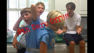 9th Dare off(duck taped together disgusting food and more!!!!)