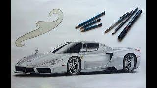 How to sketch : Ferrari Enzo | MadMade | OverKillDesigns #1