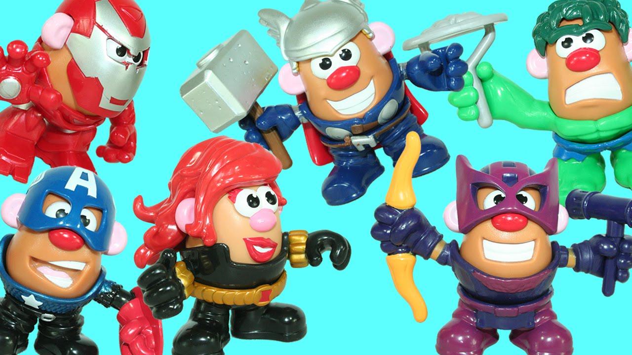 NEW Mr Potato Head Marvel Avengers Mixable Mashable 28 Pieces Playskool Hasbro