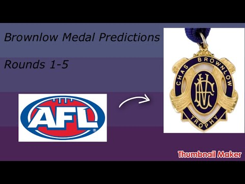 AFL Brownlow Medal Predictions rounds 1-5