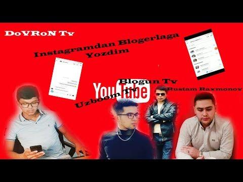 UZBOOM TV , RUSTAM RAXMONOV VA BLOGUN TVGA INSTAGRAMDAN YOZDIM LEKIN...!!!