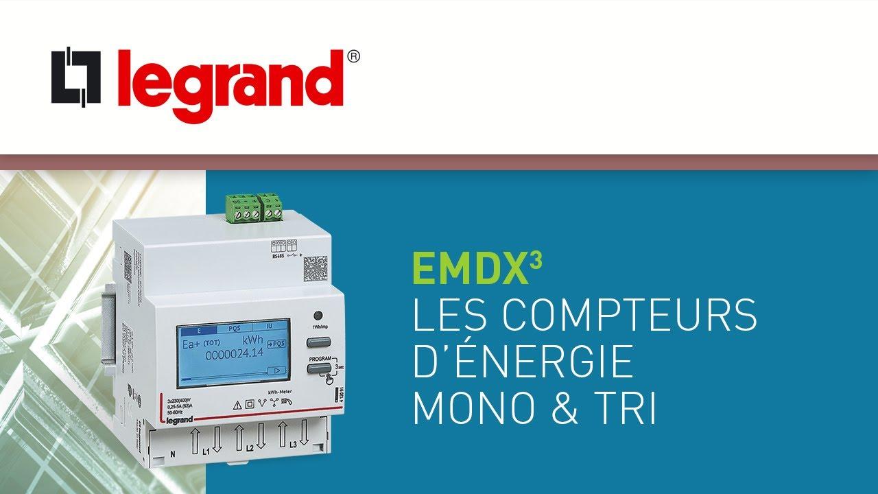 Découvrez notre gamme de compteurs d'énergie mono et tri EMDX3 Legrand