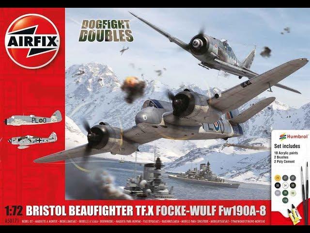 Распаковка и обзор Bristol Beaufighter TF.X Focke-Wulf Fw190A-8 Dogfight Doubles
