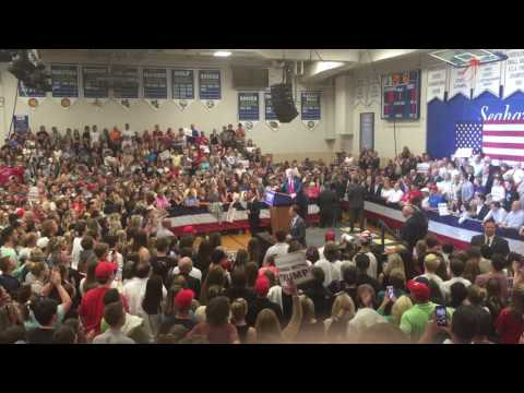 Donald Trump Visits Stephen Decatur High School in Berlin Maryland