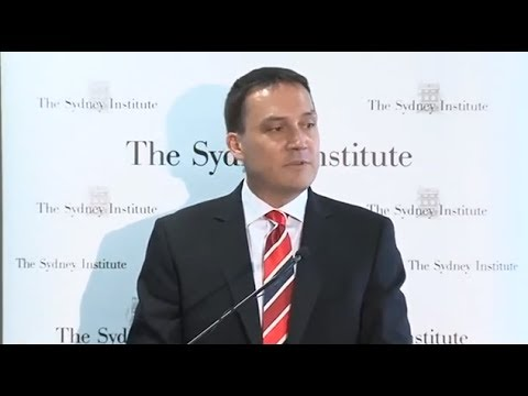 John Ruddick at The Sydney Institute. 20 Nov 2013