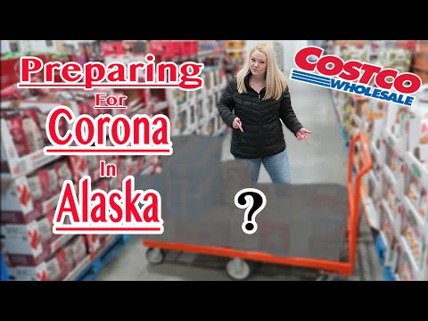 PREPARING FOR CORONA IN ALASKA  | Costco Shop with me | Violett Vlogs