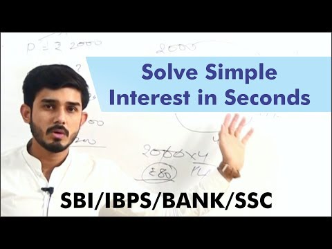 How to solve simple Interest without using formula Video - BANK/SSC/IBPS/SBI-Anuj Garg Coaching