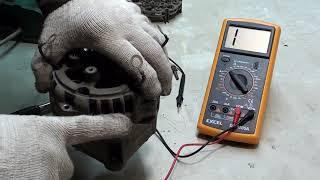 Ремонт генератора ВАЗ 80 А.Нет зарядки.  Поиск и устранение причины.