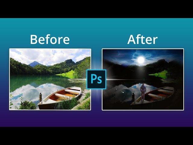 How to combine 3 images to become an artwork in Photoshop Tutorial.