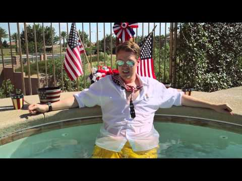 "Marty Huggins' Las Vegas Campaign Manager in the hot tub ""The Campaign"""