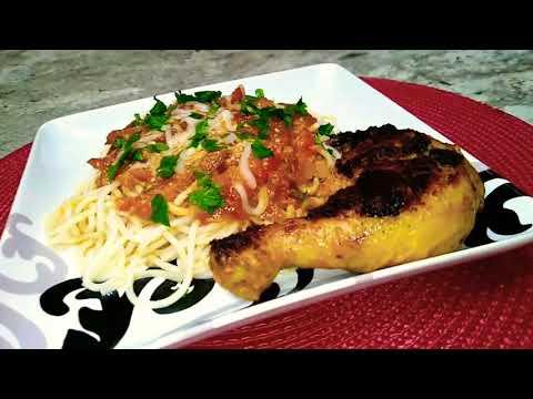 chicken-spaghetti-recipes-🍝.-recette-de-spaghetti-au-poulet-🍝