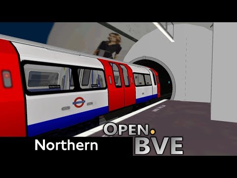 Playing Open.BVE #6 - Northern Line (Referb. 1995 Stock): Kennington to High Barnet