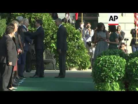 Italian PM Renzi meets President Obama