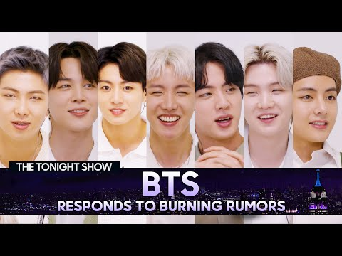 BTS Responds to Rumors About TheirFan Baseand Potential Stage Names   The Tonight Show