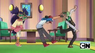 Best Wishes: Ash pulling on Cilan's face