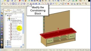 Topsolid Wood Tutorial - Tv Cabinet 2-05 Modify - Constrained Block