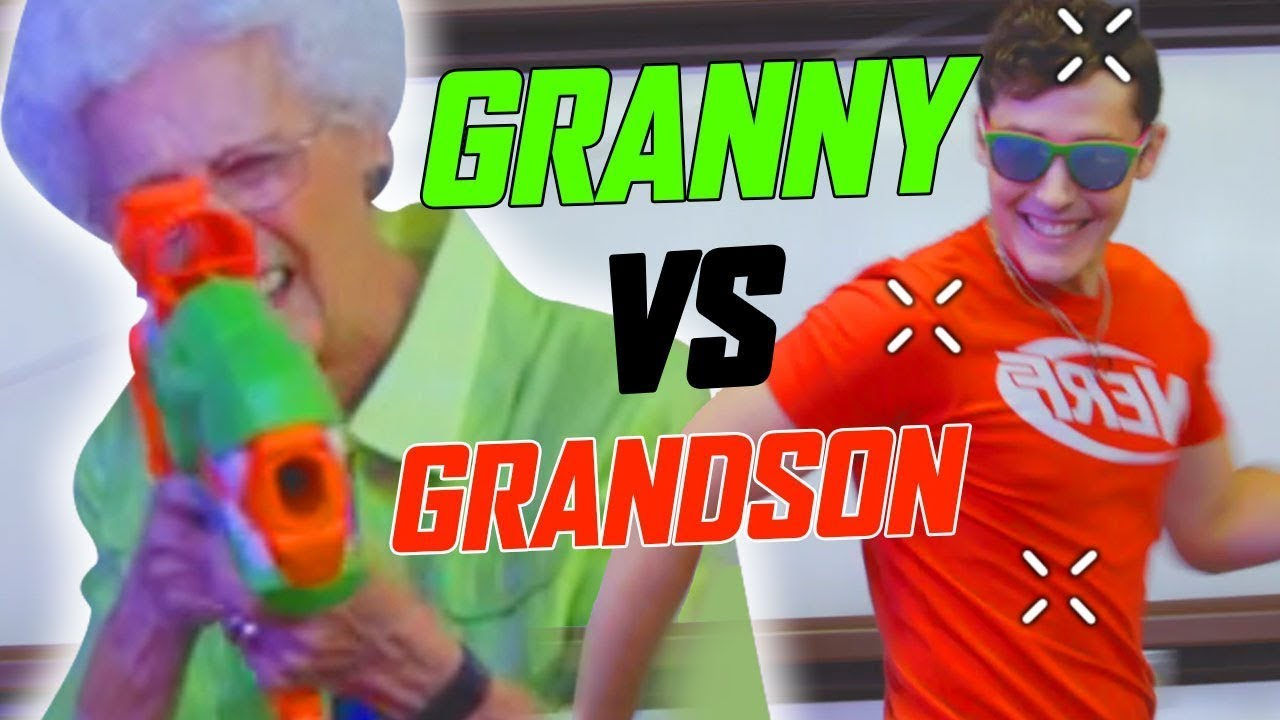 Granny in the NERF HOUSE! | Nerf Trick Shots | Episode 4 | NERF House Showdown | NERF Battle Royale