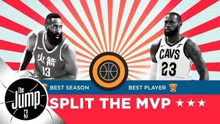 Should LeBron James and James Harden split the MVP award? | The Jump | ESPN