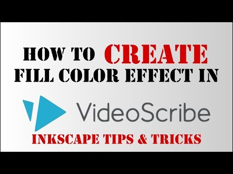 How to create a fill color effect in videoscribe using inkscape