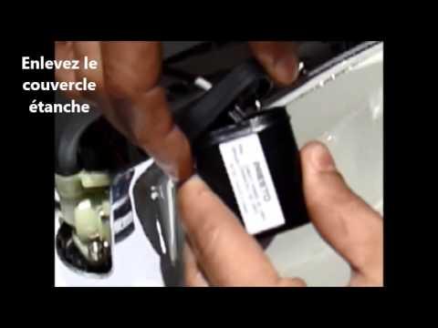 Remplacement sur robinet mitigeur electronique de la pile 6V lithium 223 CR-P2