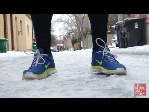 Three tips from an ice runner on how to stay vertical when walking on ice