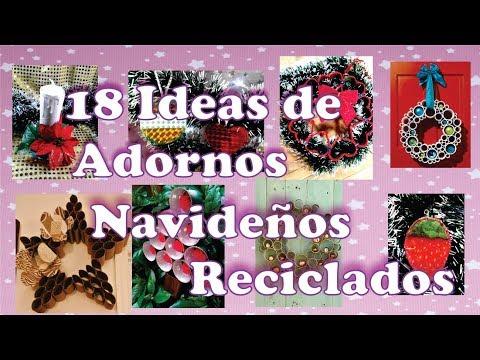 18 Ideas de Adornos Navideños Reciclando Rollos de Carton