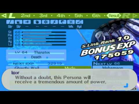 Persona 3 Portable Fusing Thanatos