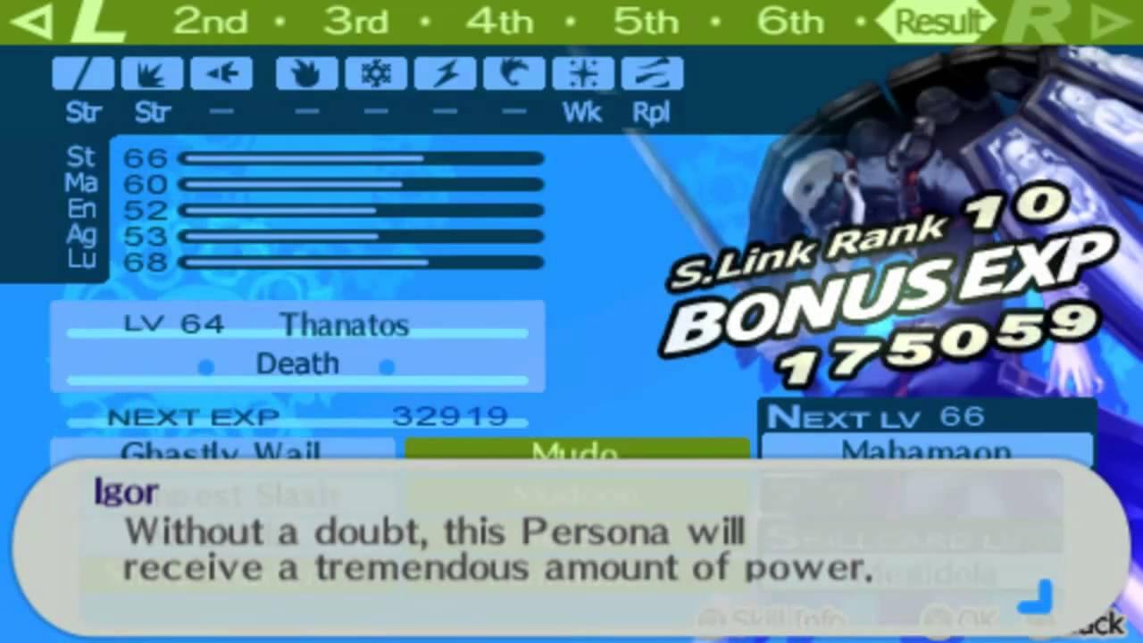 Persona 3 Portable fusing Thanatos