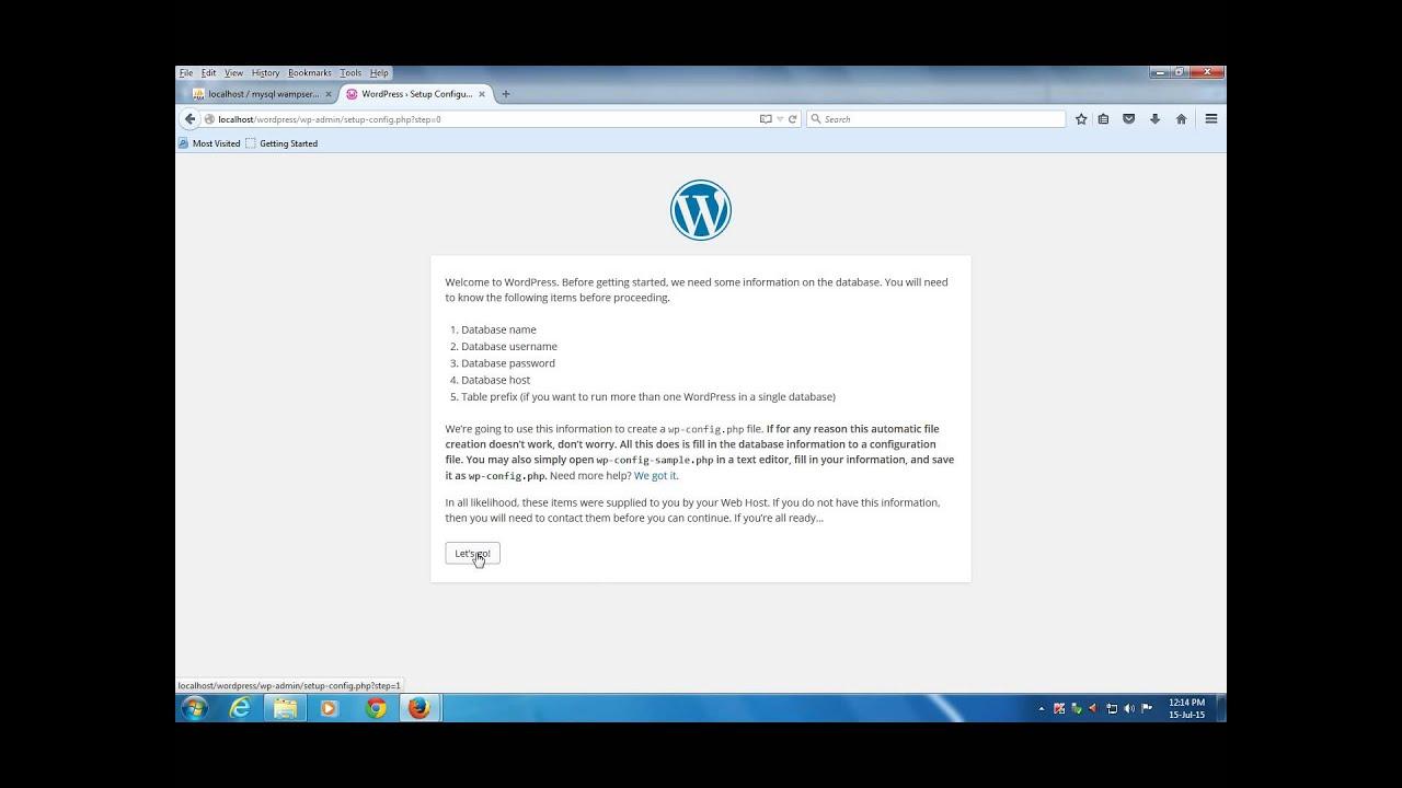 Install Wordpress In Wamp Server - Year of Clean Water