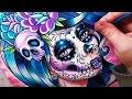 Watch Me Paint   Sugar Skull Girl Watercolor Portrait