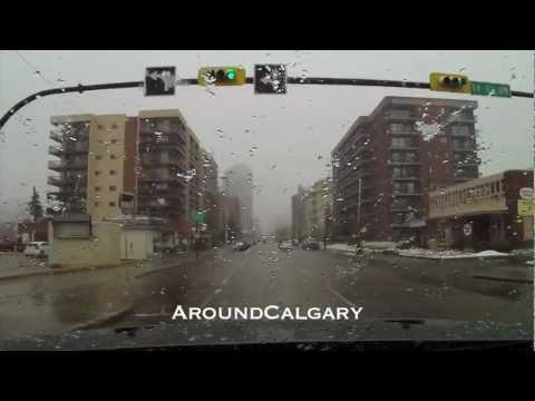 Driving in Calgary during a freak  snowstorm NW to SW
