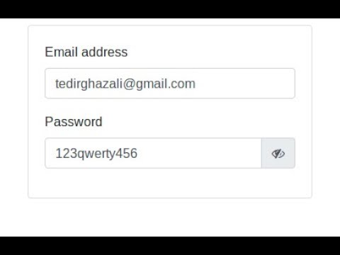 Show/Hide Passwords with Bootstrap 4