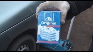 видео Замена передних тормозных колодок ваз 2112 своими руками