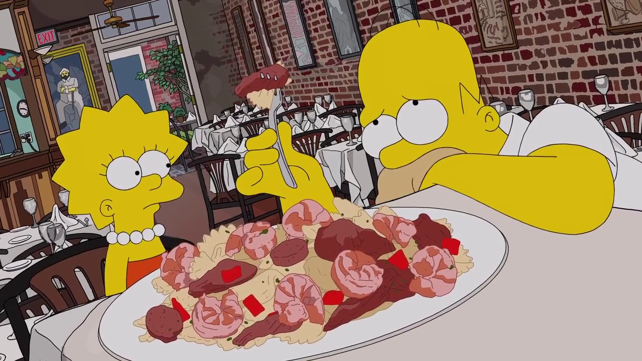 Download Homer Eats His Way Through New Orleans  Season 29 Ep  17  THE SIMPSONS