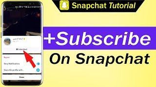 How To Subscribe on Snapchat
