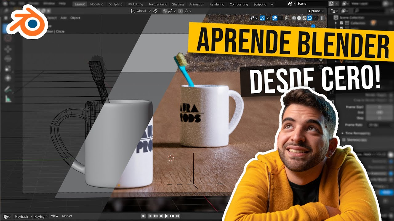 Download 🔥LA GUÍA DEFINITIVA DE BLENDER! (Tutorial completo en Español) | Desde cero! 2.91