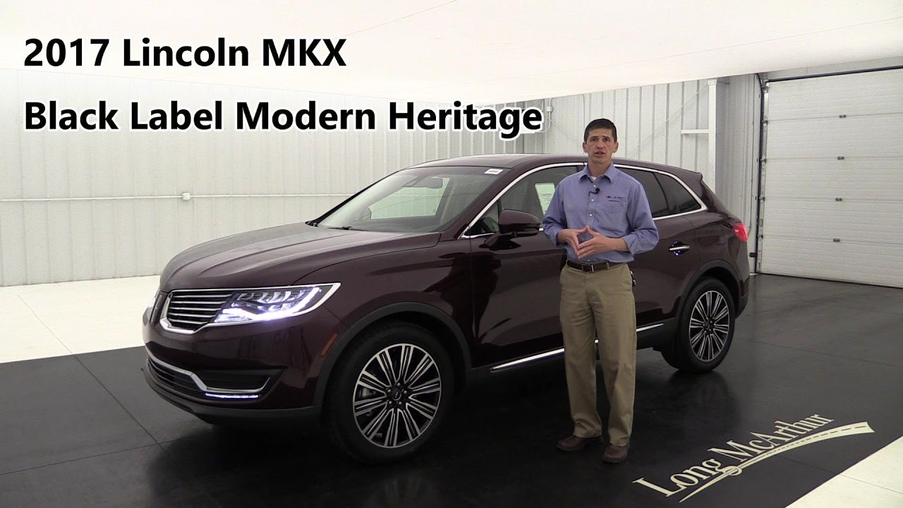 2017 Lincoln Mkx Black Label Modern Heritage 17575t