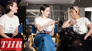 Ruth Negga & Sarah Paulson Play 'Fishing for Answers': Fashion Fears, Favorite Movies & More! | THR