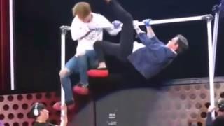 BIGBANG Khi GD va TOP Đạp nhau Không Thương Tiếc